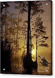 Bayou Sunrise Acrylic Print by Lianne Schneider