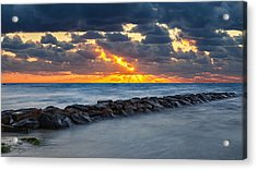 Bayside Sunset Acrylic Print by Bill Wakeley