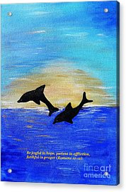 Be Joyful In Hope Acrylic Print by Karen J Jones