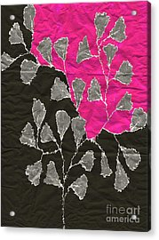 Be-leaf - Pink 03-01at4 Acrylic Print by Variance Collections