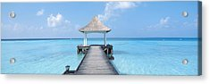 Beach & Pier The Maldives Acrylic Print by Panoramic Images