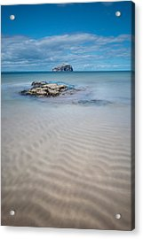 Beach At Bass Rock Acrylic Print by Keith Thorburn LRPS