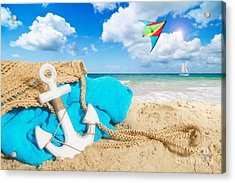 Beach Bag Acrylic Print by Amanda Elwell