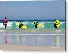 Beach Boys Go Surfing Acrylic Print by Terri Waters