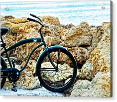 Beach Cruiser - Bicycle Art By Sharon Cummings Acrylic Print by Sharon Cummings