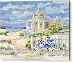 Beach Cruiser Acrylic Print by Paul Brent