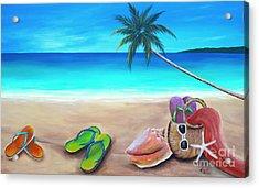 Beach Day Acrylic Print by Gabriela Valencia