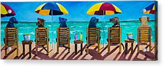 Beach Dogs Acrylic Print by Roger Wedegis