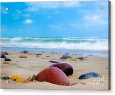 Beach Dreams In Skagen Acrylic Print by Inge Johnsson