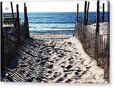 Beach Entry Acrylic Print by John Rizzuto