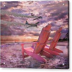Beach Flight Acrylic Print by Betsy C Knapp