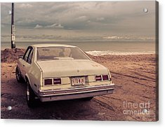 Beach Memories Salisbury Beach Ma Acrylic Print by Edward Fielding