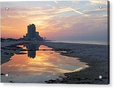 Beach Reflections Acrylic Print by Michael Thomas