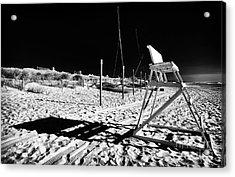 Beach Shadows Acrylic Print by John Rizzuto