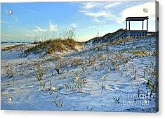 Beach Stairs Acrylic Print by Michelle Wiarda