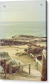Beach Steps Acrylic Print by Elaine Teague