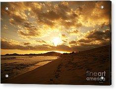 Beach Sunset Acrylic Print by Cheryl Young