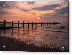 Beach Sunset Acrylic Print by Ian Mitchell