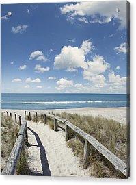 Beach Walk Acrylic Print by Les Cunliffe