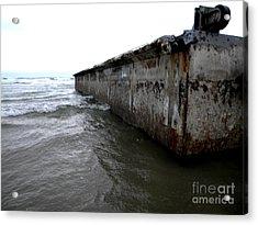 Beached Dock Acrylic Print by Thedustyphoenix