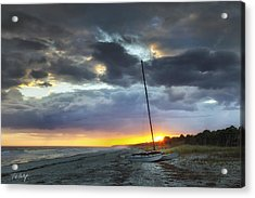 Beached For The Night Acrylic Print by Phill Doherty