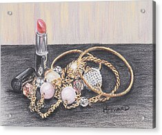 Beads And Bangles Acrylic Print by Lucy Hayward