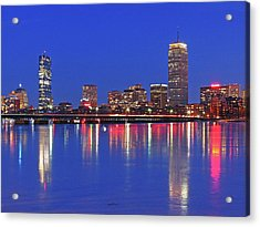 Beantown City Lights Acrylic Print by Juergen Roth