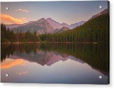 Bear Lake Sunset Reflections Acrylic Print by Darren  White