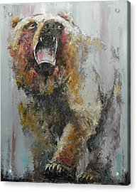 Bear Market Acrylic Print by John Henne