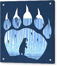 Bear Paw Acrylic Print by Daniel Hapi