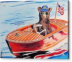 Bearboat Acrylic Print by LeAnne Sowa
