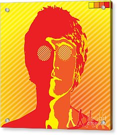 Beatles Vinil Cover Colors Project No.03 Acrylic Print by Caio Caldas