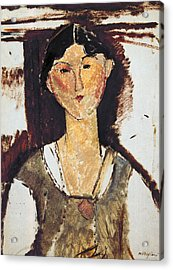 Beatrice Hastings Acrylic Print by Amedeo Modigliani