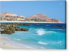 Beautiful Beach On The Sea Of Cortez Acrylic Print by John  Greaves