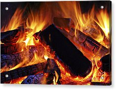 Beautiful Camp Fire Acrylic Print by Boon Mee