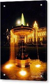 Beautiful Fountain At Night Acrylic Print by John Malone