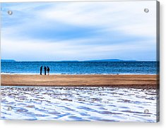 Beautiful Irish Beach On A Winter Day Acrylic Print by Mark E Tisdale