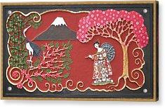 Beautiful Japan Acrylic Print by Otil Rotcod