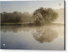 Beautiful Misty River Sunrise Acrylic Print by Christina Rollo