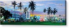 Beautiful South Beach Acrylic Print by Jon Neidert