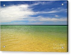 Beautiful St George Island Water Acrylic Print by Holden Parker