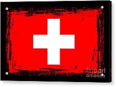 Beautiful Switzerland Flag Acrylic Print by Pamela Johnson
