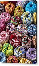 Beautiful Yarn Acrylic Print by Garry Gay