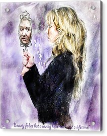 Beauty Fades Acrylic Print by Hazel Billingsley