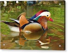 Beauty In The Pond Acrylic Print by Ayse Deniz