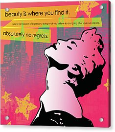 Beauty Is Where You Find It Acrylic Print by dreXeL