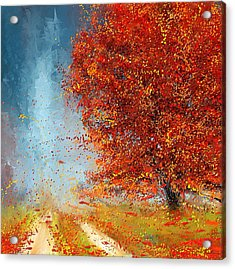 Beauty Of It- Autumn Impressionism Acrylic Print by Lourry Legarde