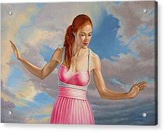 Becca In Pink Acrylic Print by Paul Krapf