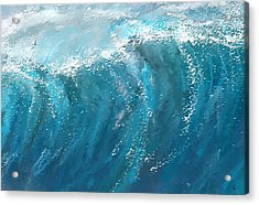 Beckoning Heights- Surfing Art Acrylic Print by Lourry Legarde