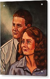 Becky And Ron Yearout Acrylic Print by Kendall Kessler